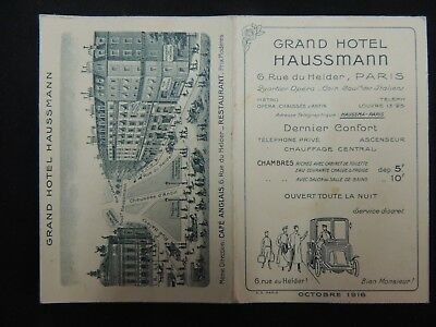 "buvard "" grand hotel Haussmann "" Paris."