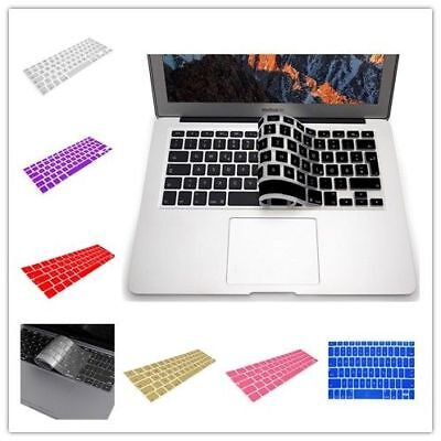 "Silicone Laptop Keyboard Cover For 2016 Macbook Pro 13"" No Touch Bar A1708 Red"