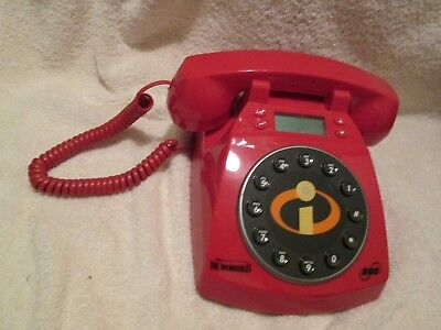 Disney Pixar The Incredibles Sbc Red Collector Telephone Working