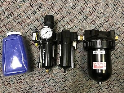 Compressed Air Filter, Regulator, Desiccant Dryer, 150 psi, 3/8 NPT