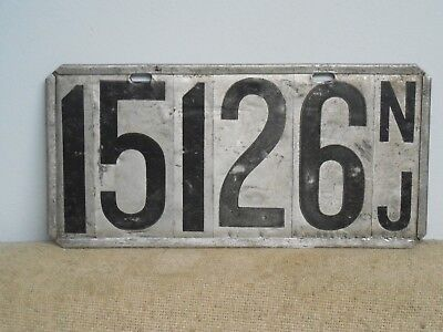 NEW JERSEY Pre State License Plate Tag Kit