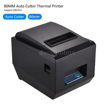 80mm Portable Thermal Receipt Printer High Speed Auto Cutter USB For Store N2J6