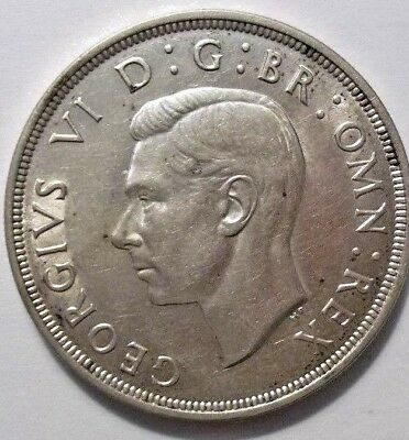 1937  King  George  VI  Large Crown / Five Shilling British  Coin