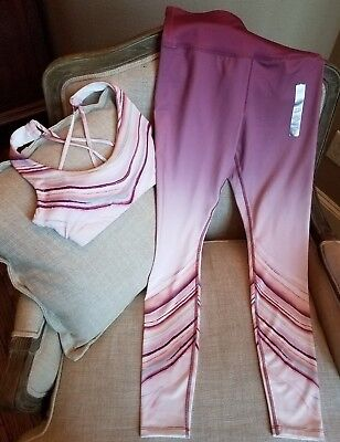 Forever21 yoga set outfit lot of 2 sports bra tech leggings size S NWT New