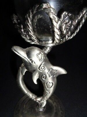 Dolphin Pewter Votive / Tea Candle Holder