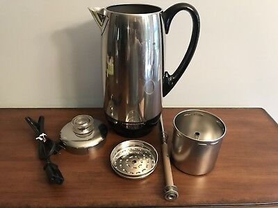 Vintage Farberware 142 SUPERFAST 4-12 Cup Electric Coffee Percolator Bronx USA