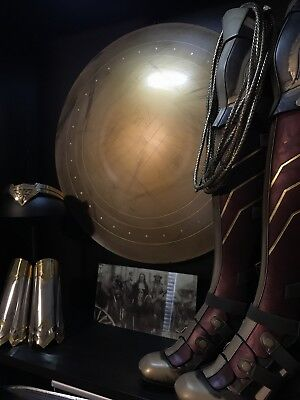 """Wonder Woman Shield 22"""" - Hand Spun Aluminum With Leather Straps"""