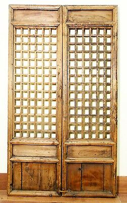 Antique Chinese Screen Panels (5126)(Temple Doors), Cunninghamia Wood, 1800-1849