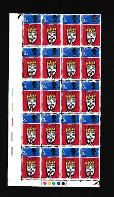 GB STAMPS- PRE DECIMAL- 1966 ~ CHRISTMAS ~ TRAFFIC LIGHTS BLOCK of 20, MINT, MNH