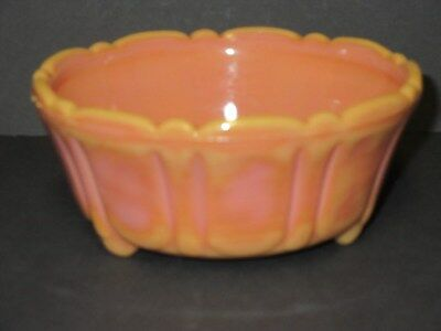 Vintage Colorful Pumpkin - Salmon  Akro Agate # 320 Bowl