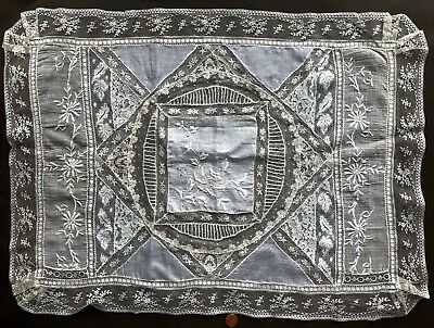 Normandy lace piecework - rectangular centerpiece or pillow sham