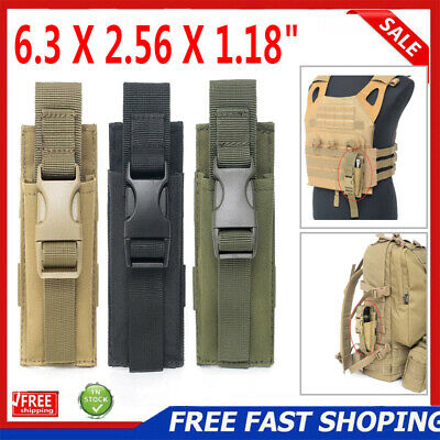 Tactical Molle Pouch Backpack Shoulder Strap Bag Hunting Tools Flashlight  Pouch