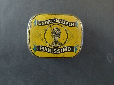 Grammophon Nadeldose Engel pianissimo  needle tin