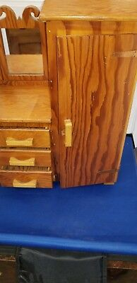 Miniature Armoire Wardrobe 17in tall 12in wide