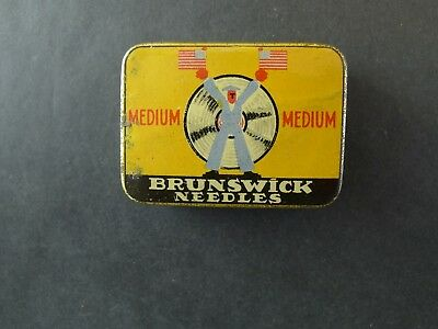 Grammophon Nadeldose Brunswick Medium  needle tin