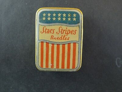 Grammophon Nadeldose Stars and Stripes rare needle tin