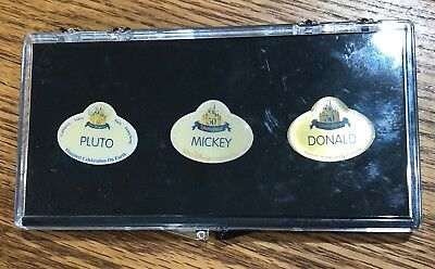 Disneyland Cast Exclusive - 50th Anniversary Name Tag Replicas - Set of 3