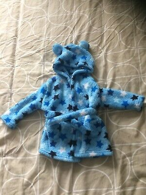 boys hooded 6-12 months dressing gown