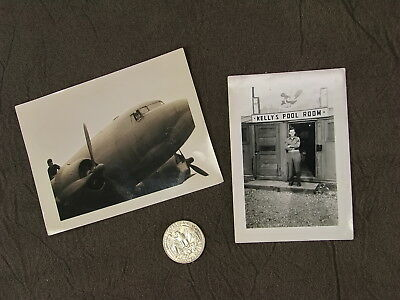 WORLD WAR 2 54th Troop Carrier Squadron C-47 Aircraft Kelly Pool Room Photo 1945