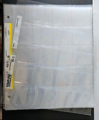 35mm or 2x2 Slide/Coin Archival Sheets/Pages - 20 Slides/Coins per sheet - 200+