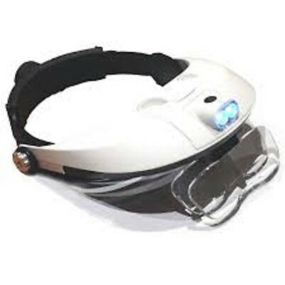 HAWK OPTICALS Illuminated Headband  Magnifier With 5 Interchangeable Lenses From