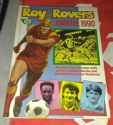 Roy of the Rovers Annual 1990 Hardback Book.