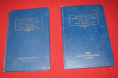 YOEMAN'S Blue Handbook of United States Coins 17th(1960)  & 23rd(1966) Edtion