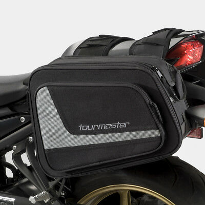 Tourmaster Select Heavy Duty 12 liter Saddle Bags w/ Rain and Dust Cover