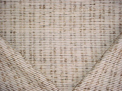 1-1/8Y Donghia Magnificent Brown White Raw Silk  Drapery Upholstery Fabric