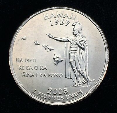 2008 D MINT -  Hawaii State Quarter Uncirculated FREE SHIPPING