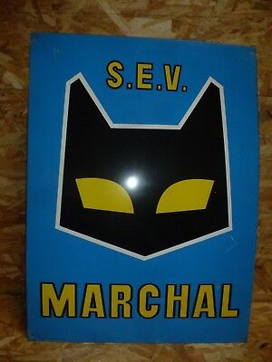Plaque Tole Sev Marchal Garage Automobile Collection No Emaillee Bidon D'huile