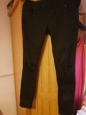Topshop Size 16 Ripped Maternity Jeans
