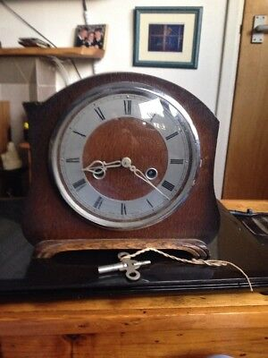 Old Clock Mantel Clock Vintage Smiths F3A Made In Gt Britain
