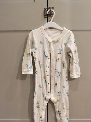 3x M&S Sleep suits Babygrows With Feet 18-24