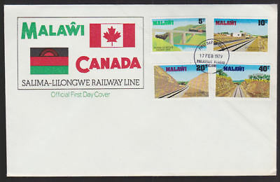 Malawi 1979 FDC official illustrated Cover Canada Railway Line Philatelic cancel