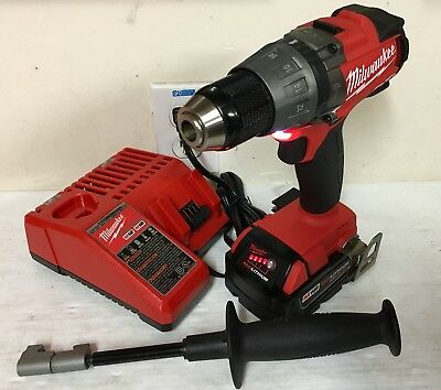 (1) Milwaukee M18 FUEL Hammer Drill, Battery, and Charger 2704-20, 5.0XC Battery