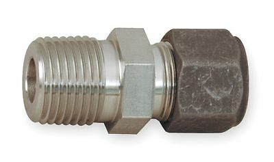 """Parker 316 Stainless Steel CPI x MNPT Male Connector, 1/2"""" Tube Size - 8-4"""