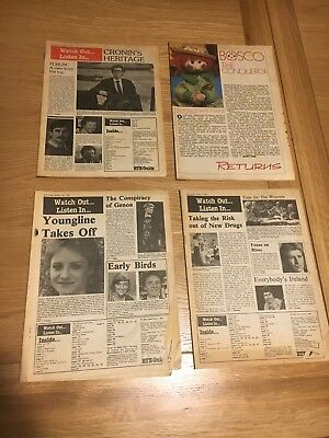RTE Guide Bundle of 4 Early 80s Guides with no covers, dating from 1982 - 1985.