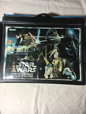 1977 Star Wars Kenner Collectors Carrying Case with Vintage Figures