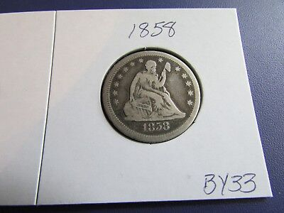 1858 25C Liberty Seated Quarter