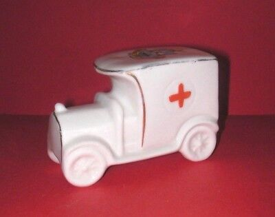 Royal Stafford Crested China WW1 Red Cross Van  West Hartlepool Crest