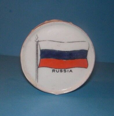 Crested China  Drum Russia Flag