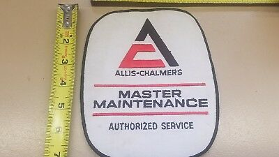 ALLIS CHALMERS TRACTOR EMBROIDERED EMBLEM IRON-ON SEW-ON PATCH 6 x7 1/4 inch