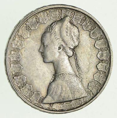Roughly Size of Half Dollar - 1960 Italy 500 Lire - World Silver Coin - 11g *883