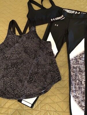 UNDER ARMOUR Ladies 1 piece Active Wear set size Small NEVER WORN Top Tank Shirt