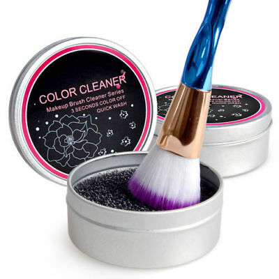 1PC Cosmetic Makeup Brush Color Clean Eyeshadow Sponge Tool Cleaner Remover Box
