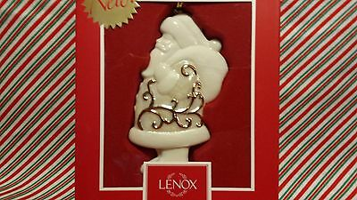"Lenox ""golden Scroll Santa Ornament"" --- New In Box"