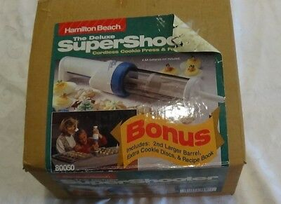 Hamilton Beach The Super Shooter Deluxe Electric Cookie Press Canape Maker