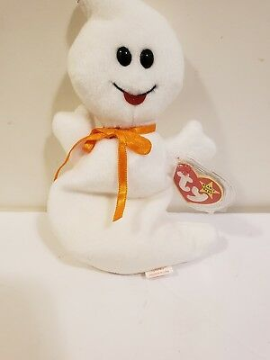 1995 Ty Original Beanie Babies SPOOKY The Ghost Style 4090 w/Tags (8 inch) d2