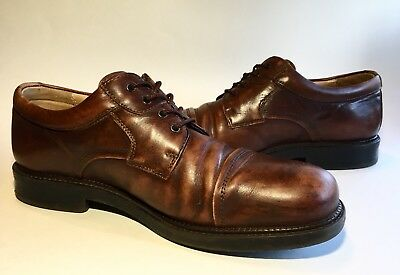 Bostonian Strada Brown Leather Oxfords Dress Shoes Mens Sz 8 Made in Italy